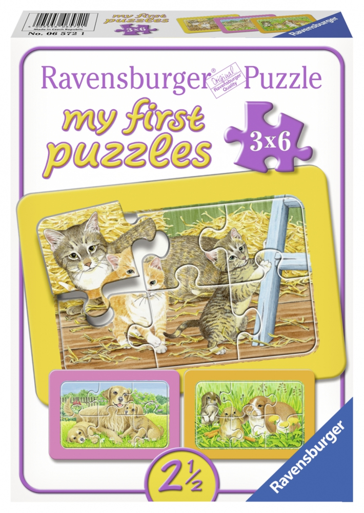 Ravensburger minu esimene pusle 3x6 tk