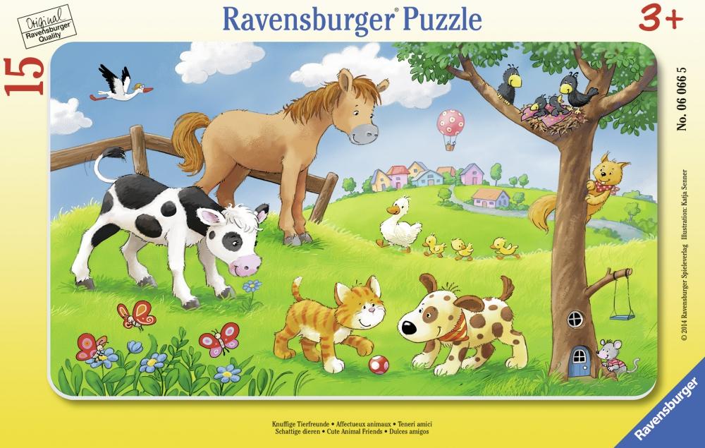 Ravensburger plaatpusle 15 tk Imearmsad loomad