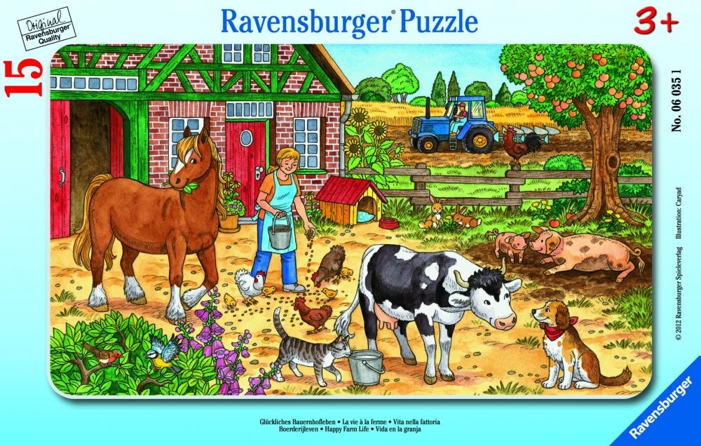 Ravensburger väike plaatpusle 15 tk Taluõu