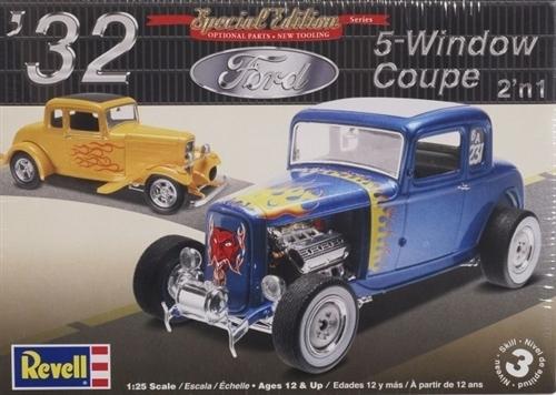 Revell liimitav mudel 1932 Ford 5 Window Coupe 2`in1 1:25