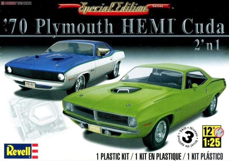 Revelli 1970 Plymouth Hemi Cuda 2n1 1:25