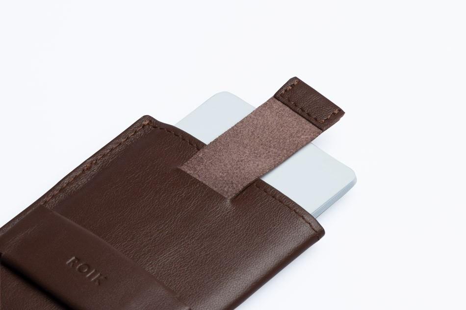 ROIK Cards & Keys pruun nahast rahakott