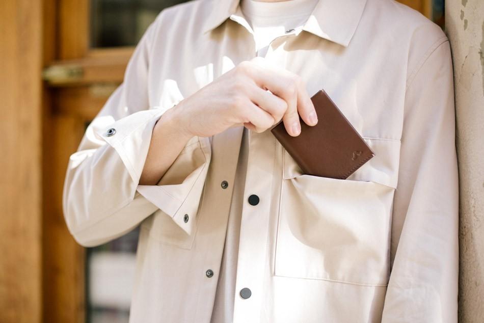 ROIK Town pruun nahast rahakott