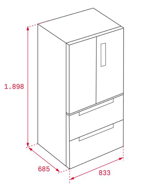 Side-by-side külmik Teka RFD77820GBK