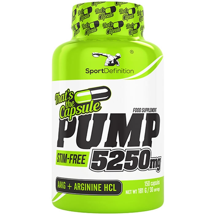 Sport Definition Pump 5250 mg That's the Capsule kapslid (150 tk). Parim enne 12.2019