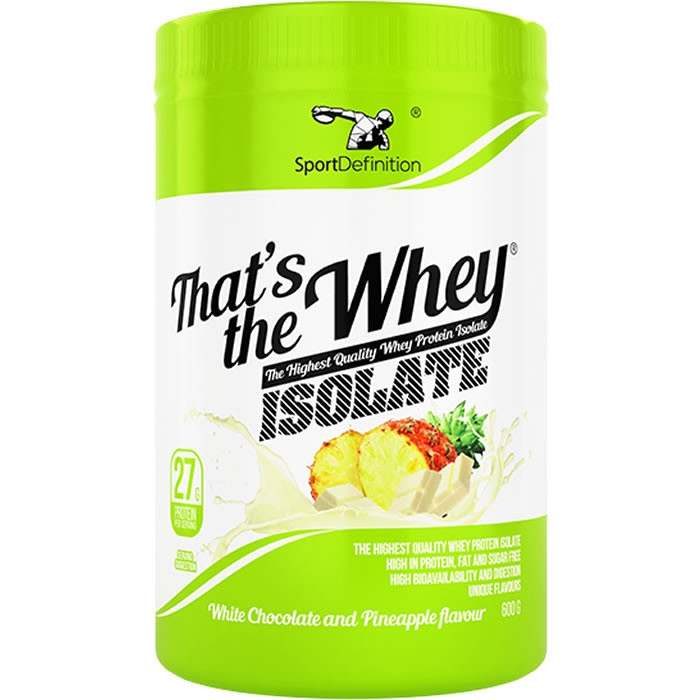 Sport Definition That's The Whey Isolate vadakuvalguisolaat, Valge šokolaadi-ananassi (600 g)