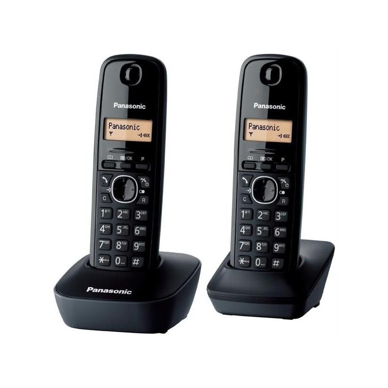 Telefon PANASONIC KXTG1612FXH juhtmevaba, must