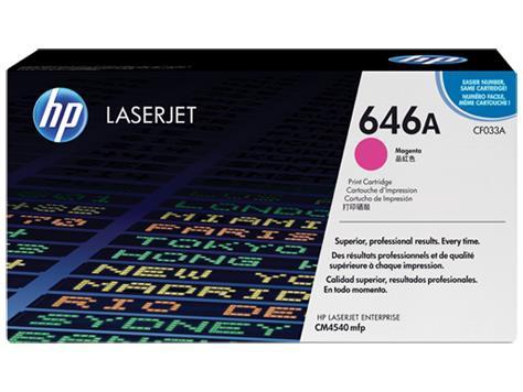 TONER MAGENTA 646A /CM4540/12.5K CF033A HP