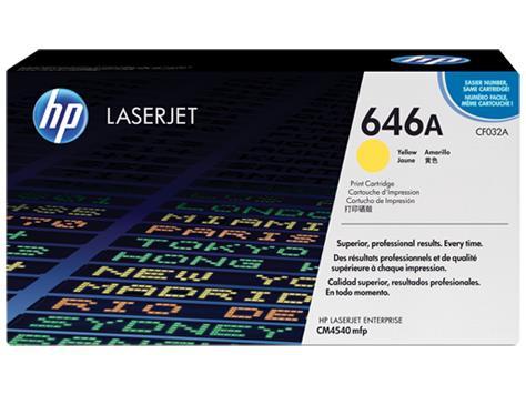TONER YELLOW 646A /CM4540/12.5K CF032A HP