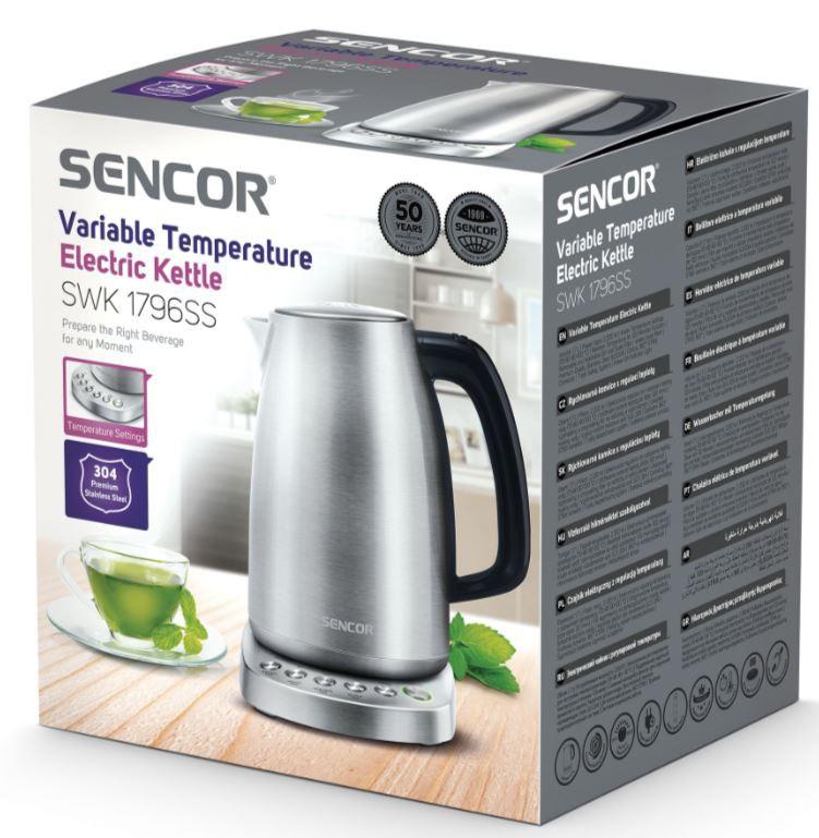 Veekeetja temperatuuri valikuga Sencor SWK1796SS