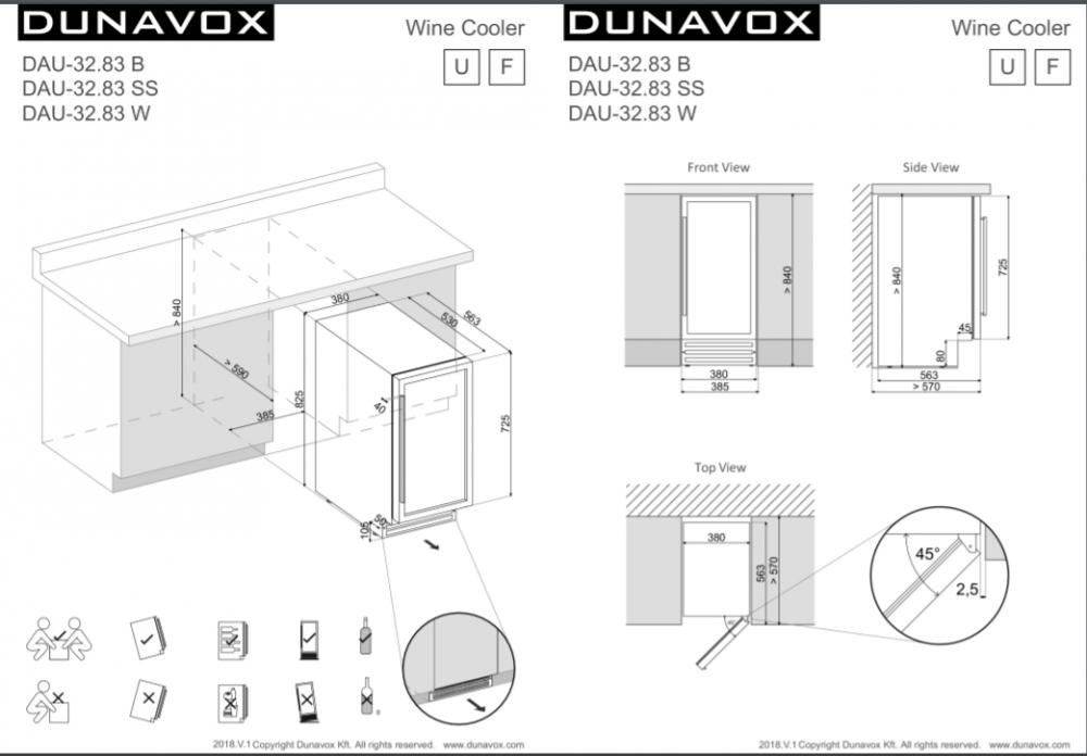 Veinikülmik Dunavox DAU32.83B