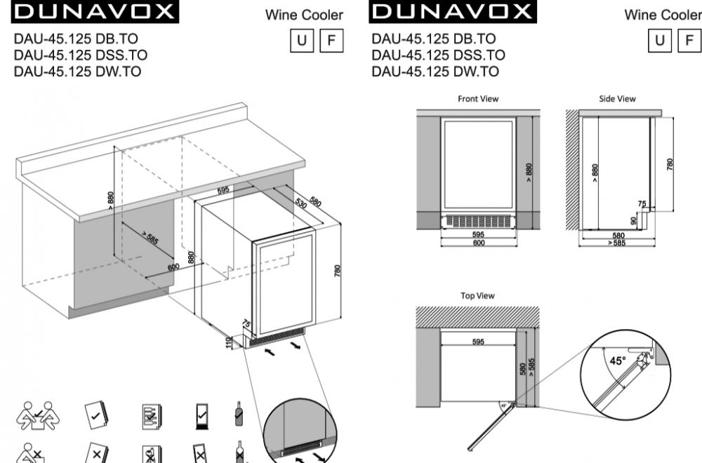 Veinikülmik Dunavox DAU45.125DW.TO