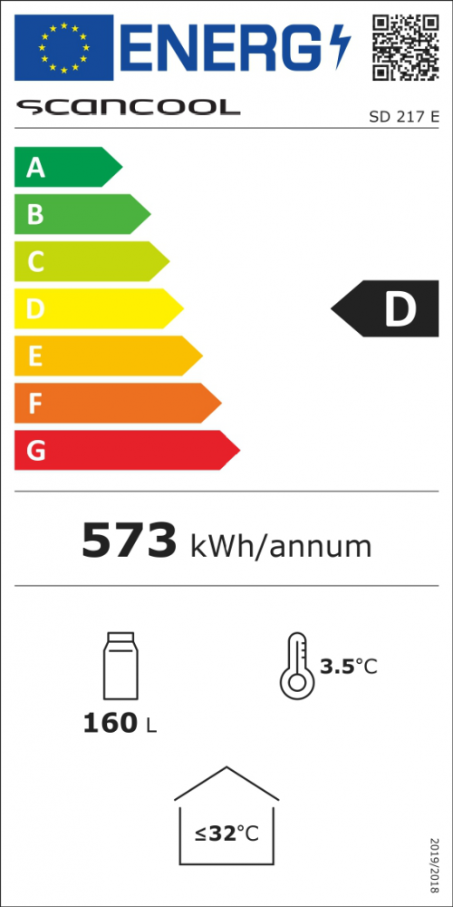 Vitriinkülmik Scandomestic SD217E valge