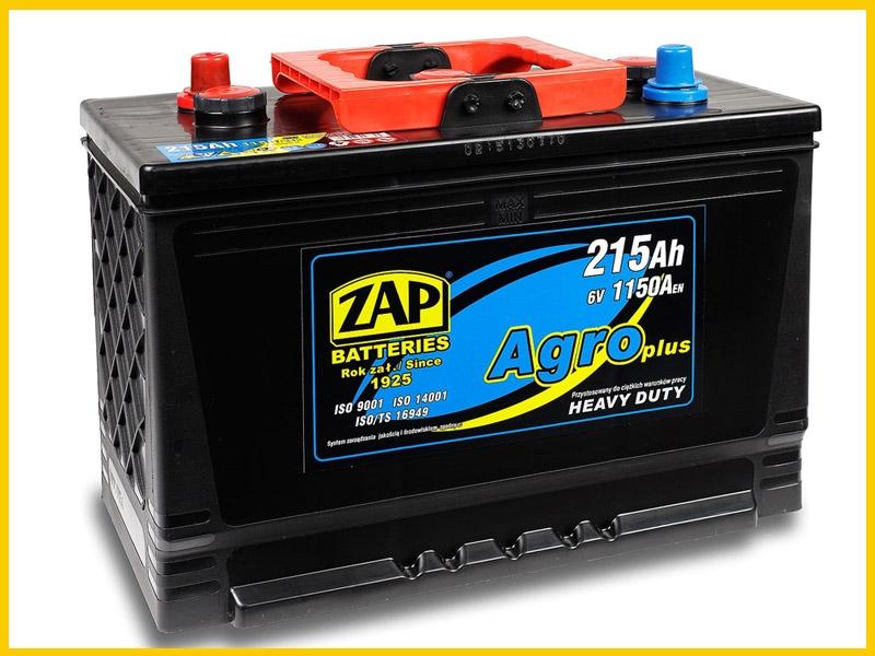 Zap (- + ) 215 A-h   6 Volt  AGRO Heavy Duty