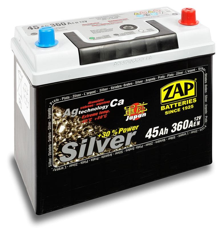 Zap (- +)  45 A-h  Silver  Japan