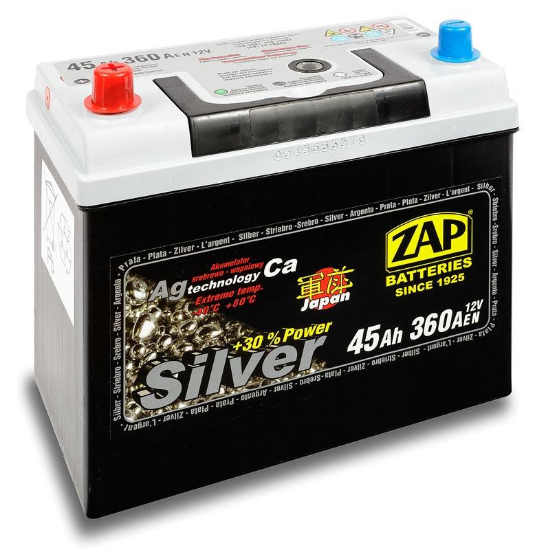 Zap (+ -)  45 A-h Silver Japan
