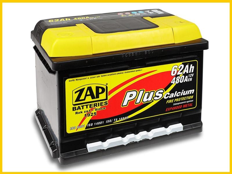 Zap (- +)  62 A-h  Plus