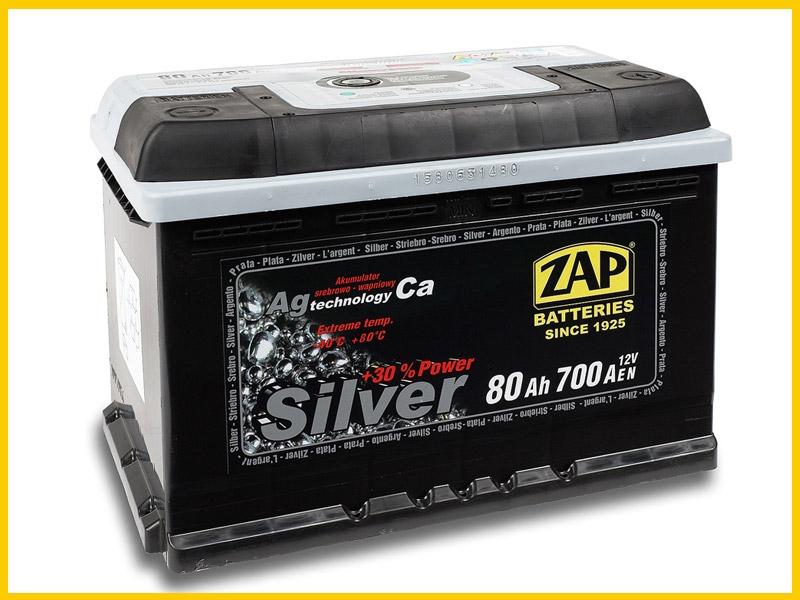 Zap (- +)  80 A-h  Silver
