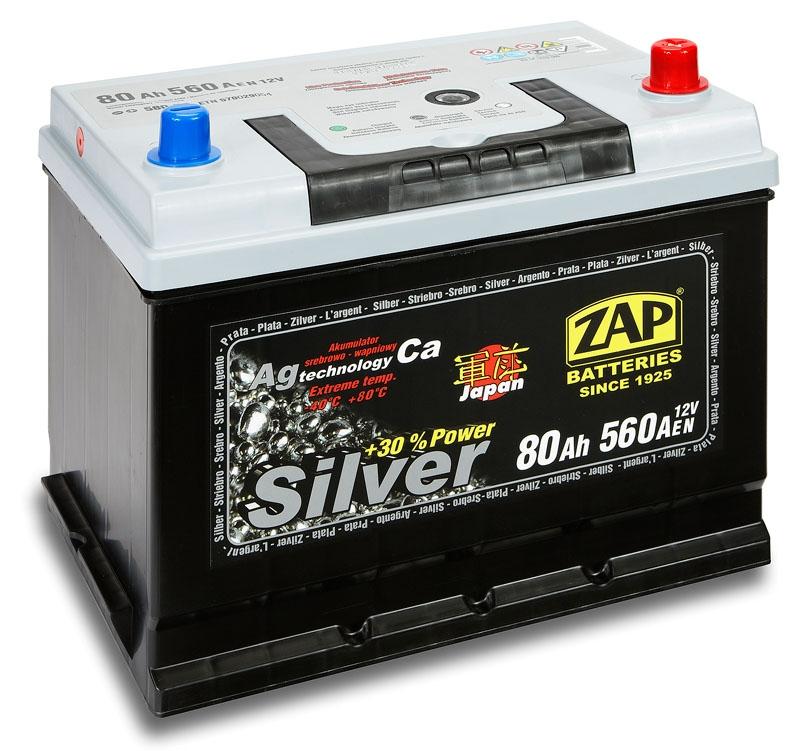 Zap (- +)  80 A-h  Silver Japan