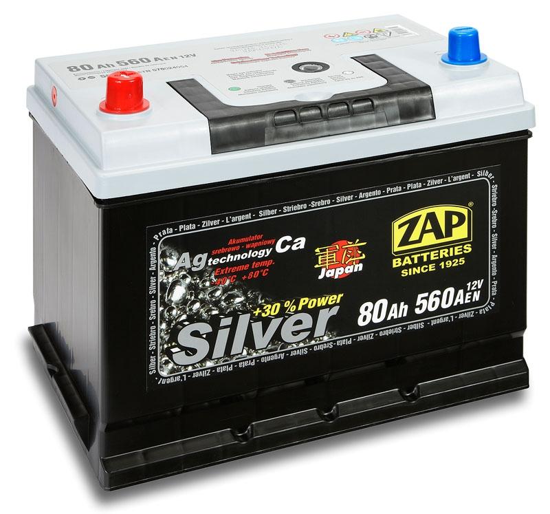 Zap (+ -)  80 A-h  Silver Japan