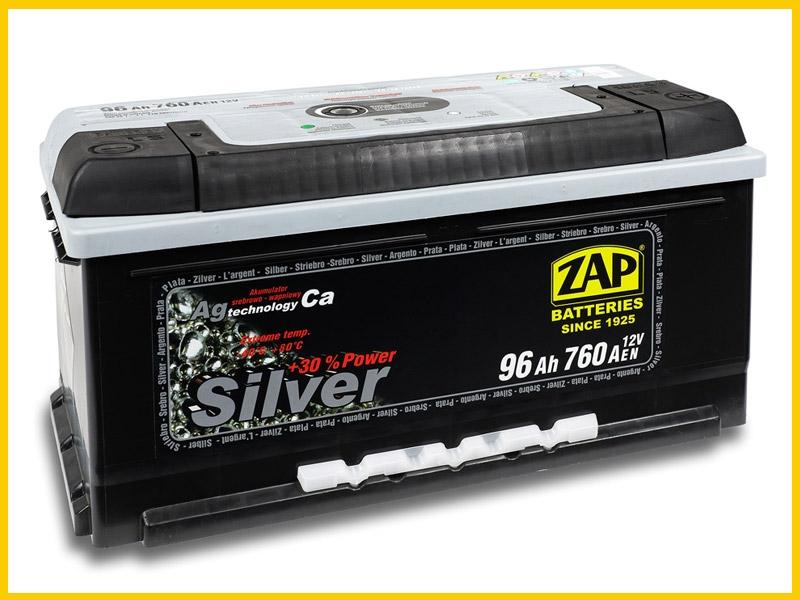 Zap (- +)  96 A-h  Silver